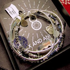 Alex & Ani All That Glitters Bangle Set of 5